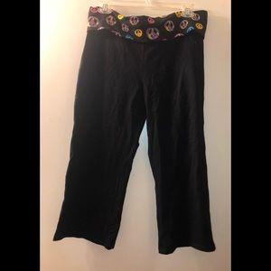 Victoria's Secret PINK Cotton Flipover Yoga Pants